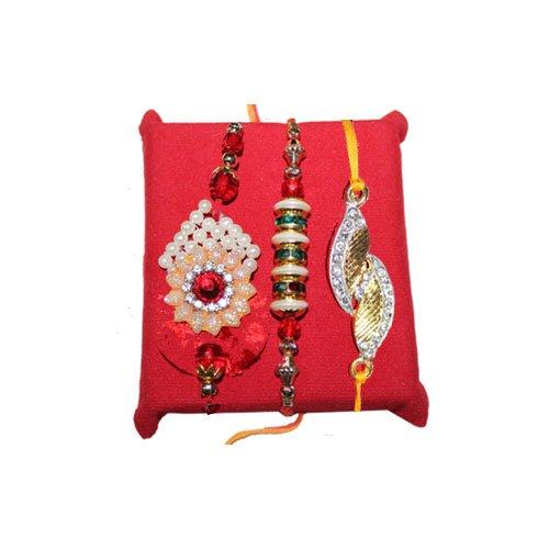 handicrunch-rakhi-set-of-3-gracefull-designer-rakhi-set-with-haldirams-rasgulla