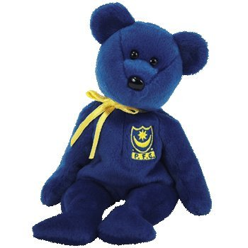 TY Beanie Baby - POMPEY the Bear (UK Portsmouth Football Club Exclusive)