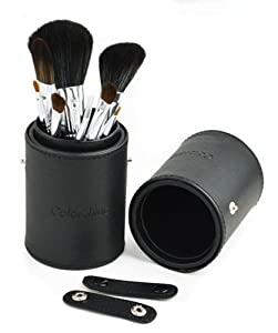 Colorshine New High Quality Wool Brush Set 8 PCS in a Pen Container (Black)