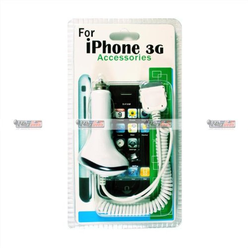 Car Charger for iPod iPhone 3G 3GS (White) айфон 3gs в волгограде