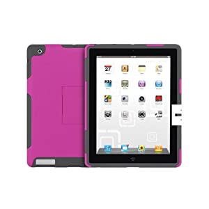 Incipio iPad 4 / iPad 2 SILICRYLIC Hard Shell Case with Silicone Core - Magenta/Gray