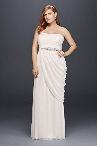 Mesh Sheath Plus Size Wedding Dress with Beaded Details Style 9SDWG0417, Soft...