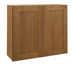 All wood cabinetry w2442 hcn hawthorne maple cabinet 24 for Kitchen cabinets 42 high