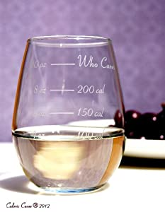 Caloric Cuvee - The Calorie Counting Wine Glass NOW IN STEMLESS