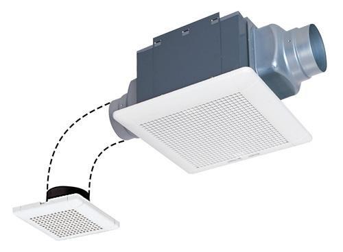 三菱電機 ダクト用換気扇 VD-13ZF9-BL サニタリー用ファン 天井埋込形 2室換気用 低騒音 BL認定品