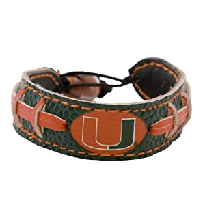 Buy Miami Hurricanes Team Color Football Bracelet by GameWear