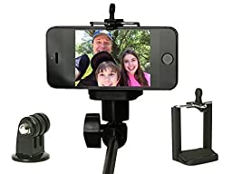 ROXANT Classic Selfie Stick Comes With All Adapters For iPhone, GoPro And Other Smartphones Extends to 43\