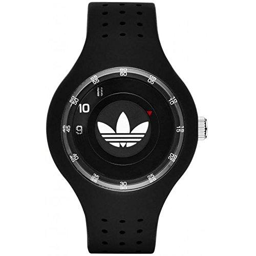 Adidas Unisex Black Silicone Band & Case Quartz Grey Dial Analog Watch ADH3059