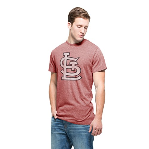 MLB St. Louis Cardinals Men's '47 Tri-State Tee, X-Large, Lava Red