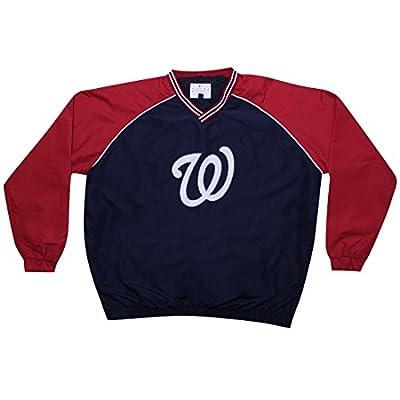 BIG & TALL MLB WASHINGTON NATIONALS Mens Fall / Winter Wind Breaker Jacket with Lining