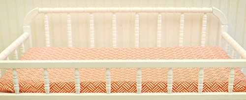 New Arrivals Changing Pad Covers, Spot on in Tangerine