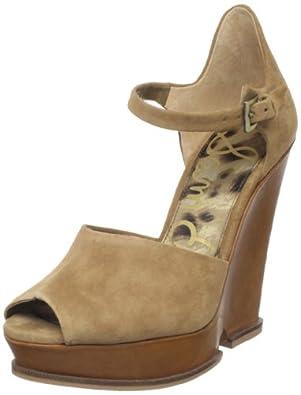 Sam Edelman Women's Javi Wedge Sandal,Camel,10 M US