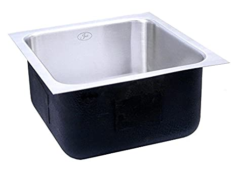 Just USADA1821A,6.5,DCR 18 Gauge Undermount Single Bowl Ada Stainless Steel Sink