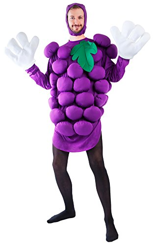 Adult's Purple Grapes Halloween Costume (Size: Standard 44)