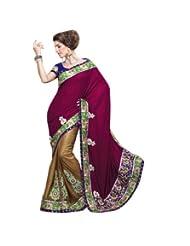 Triveni Velvet Partywear Embroidered Saree 2023