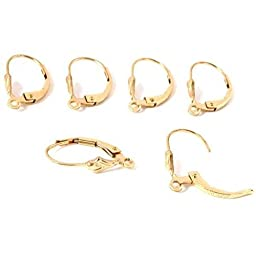 6 14k Gold Filled Lever Back Earrings Jewelry Parts