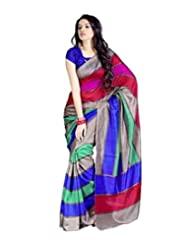 Vibes Women's Bhagalpuri Art Silk Saree,With Blouse (VS51-VBK114_Multi)