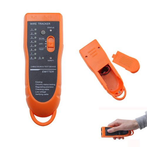 Gadgetzone Smart Orange Cable Wire Phone Network Toner Tracer Tester Continuity Test Cable Tracker