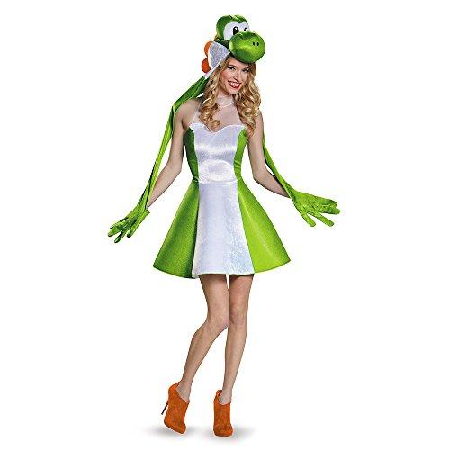 Disguise Women's Yoshi Female Costume, Green, Large