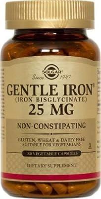 Solgar Gentle Iron 25 MG (IRON BISGLYCINATE) 180 Vegetable Capsules