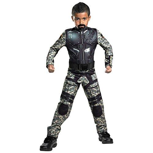 [GSG Roadblock Classic Costume Kids GI Joe Army Military Halloween Fancy Dress] (Cabaret Costumes For Men)