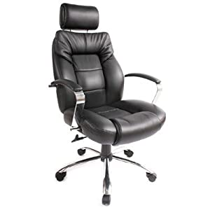 commodore ii big and tall executive leather chair black 60 5800t