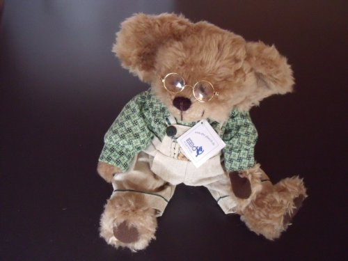 EBO Kuschelbär 37 cm mit Brille Teddybär beige