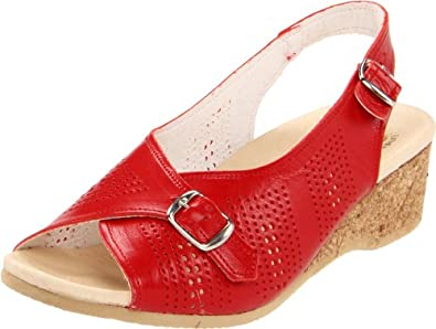 Worishofer Women's 562 Slingback Sandal,Red,35 EU/4.5-5 M US