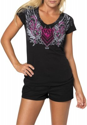 MSR Metal Mulisha Gateway Ladies T-Shirt Gateway Black Extra Large XL 886152975911