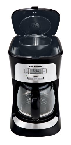 Black And Decker Coffee Maker Temperature : Black & Decker 12-Cup Programmable Coffee Maker, Black Black Coffee Maker