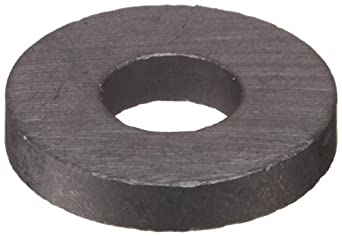 "Ceramic Ring Magnets, 0.689"" Outer Diameter, 0.296"" Inner Diameter, 0.118"" Thick (Pack of 6)"