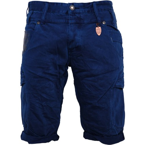 883 Police Mens Navy Tiege Shorts Branded Button Fly 100% Cotton Navy 30 WAIST