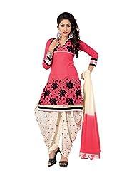 Venisa Cambric Cotton Red Color Salwar Suit Dress Material