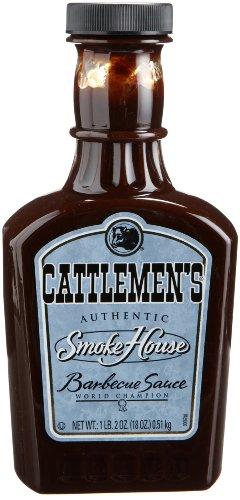Cattlemen's Master's Reserve Memphis Sweet BBQ Sauce, 18-Ounce Plastic Bottles (Pack of 6)