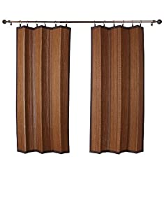 Bamboo Ring Top Curtain Brp12 40 Inch L X 63 Inch H Indoor Outdoor Panel Espresso Brown Amazon