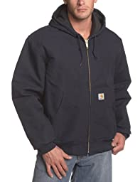 Carhartt Men\'s Big & Tall Quilted Flannel Lined Duck Active Jacket J140,Dark Navy,Large Tall