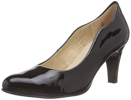Caprice22406 - Decolleté chiuse Donna , Nero (Nero (Black Patent 018)), 36