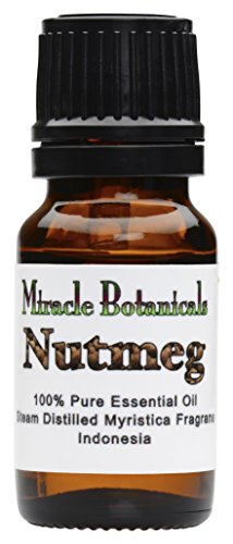 Miracle Botanicals Nutmeg Essential Oil - 100% Pure Myristica Fragrans - Therapeutic Grade - 10ml