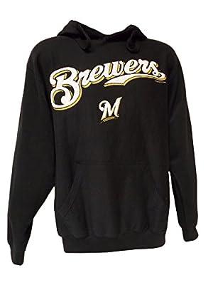 MLB Milwaukee Brewers Men's Blue Sweatshirt Pullover Hoodie Screen Print