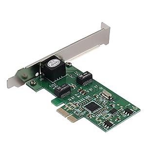 Semlos Network PCIE Card 10/100/1000Mbps Gigabit Desktop PCI Express Ethernet LAN Network Adapter