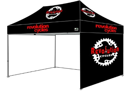 Eurmax Premium 10X15 Pop Up Canopy Party Tent + Sidewalls With Custom Printed Logo Bonus Awning And Wheeled Carry Bag (10X15) front-976303