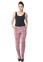 iamme casual checkered trouser in Red and White