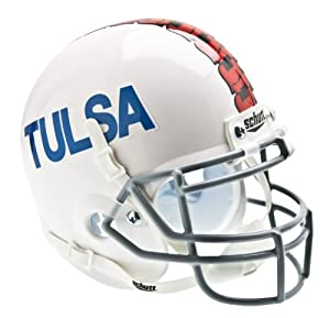 NCAA Tulsa Golden Hurricanes Collectible Alt 2 Mini Helmet, White by Schutt