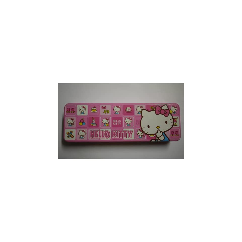 Charming Pink Hello Kitty Pencil Box