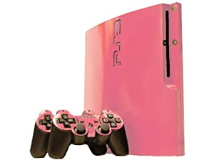 Sony PlayStation 3 Slim Skin (PS3 Slim) - NEW - SOFT PINK system skins faceplate decal mod