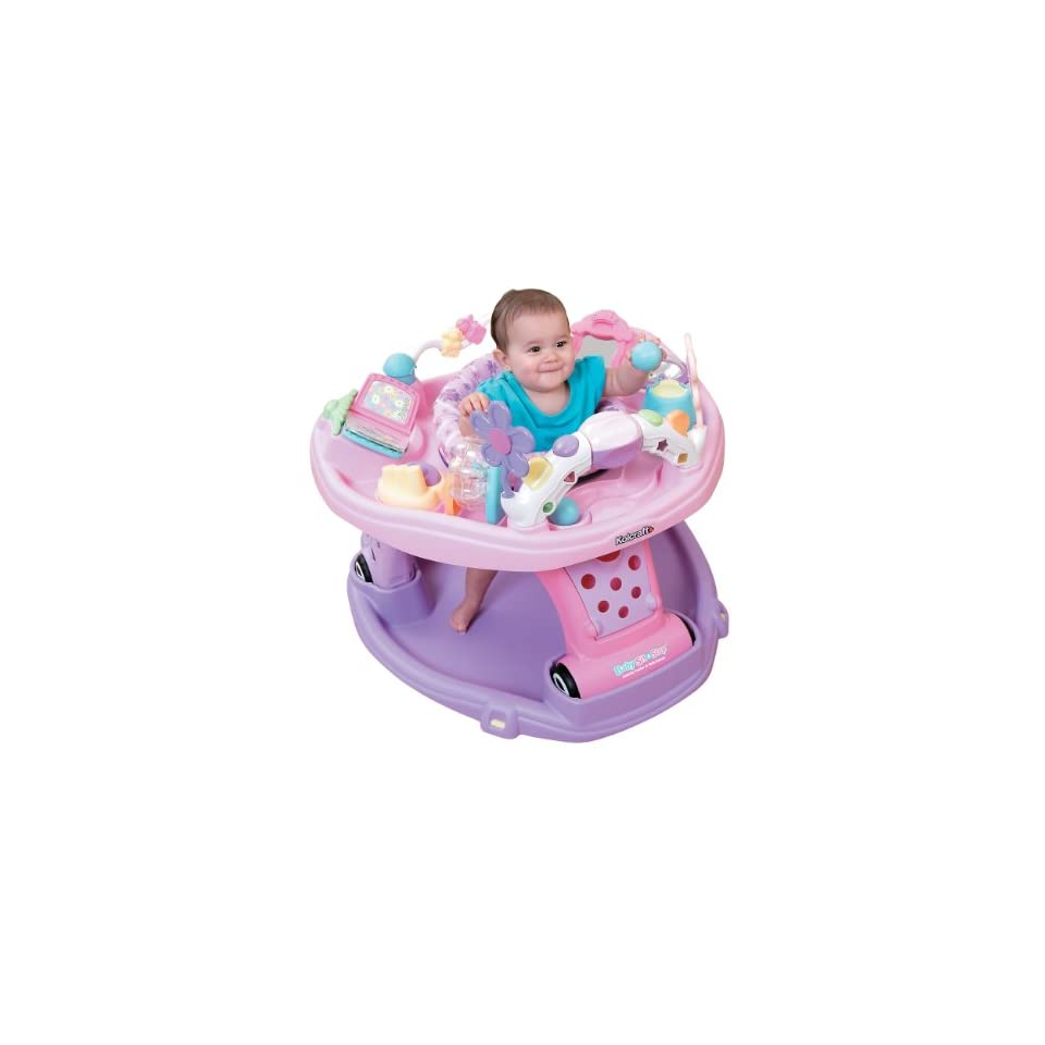 Kolcraft Baby Sit and Step 2 In 1 Activity Center, Pink