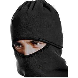 今年の防寒マスクこれで決まり! 完璧防寒 フェイスマスク ネックウォーマー ニット帽 スキー スキー スノーボード 自転車 バイク 便利マスク ブラック