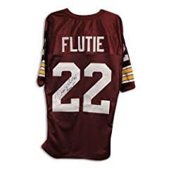 Doug Flutie Boston College Eagles Autographed Hand Signed Maroon Throwback Jersey...