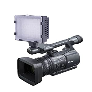 Pro 76-LED Camera Video Camcorder DV Lamp Light for SONY HDR,SR,DVD series,JVC Everio GZ MS MG,MD,HD series,Canon Legria,MD HF,HV,S,FS series,SAMSUNG VP HMX.Panasonic VDR D50,SDR SW21 S26 S15,H90 H80 H40,NV GS90 GS500,GS330 GS230,HDC SD9 HS9 TM20,HS300 TM300,HS200 SD200,HS20 SD20,SD60,SD90,and DSLR Cameras.