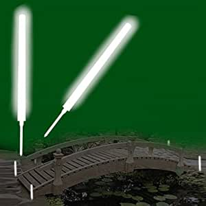 White Glow Marker Lights With Ground Stakes Landscape Lighting